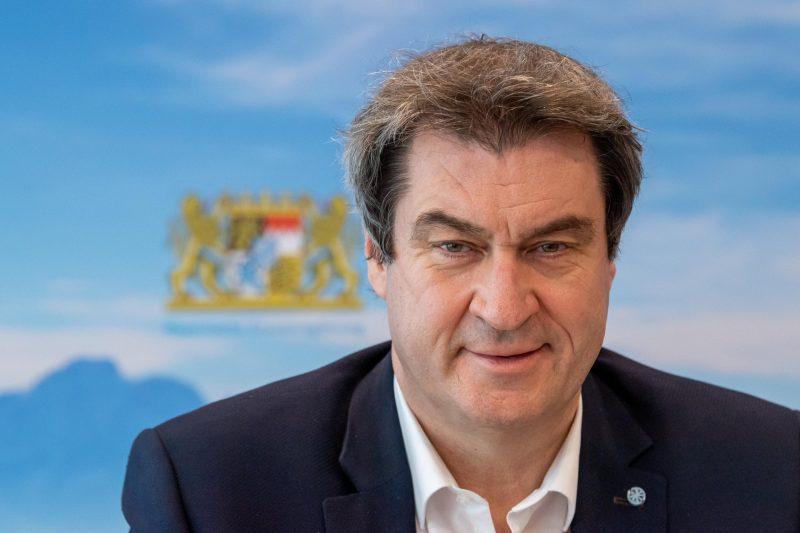 Markus Söder (CSU) bei der Sitzung des bayerischen Kabinetts