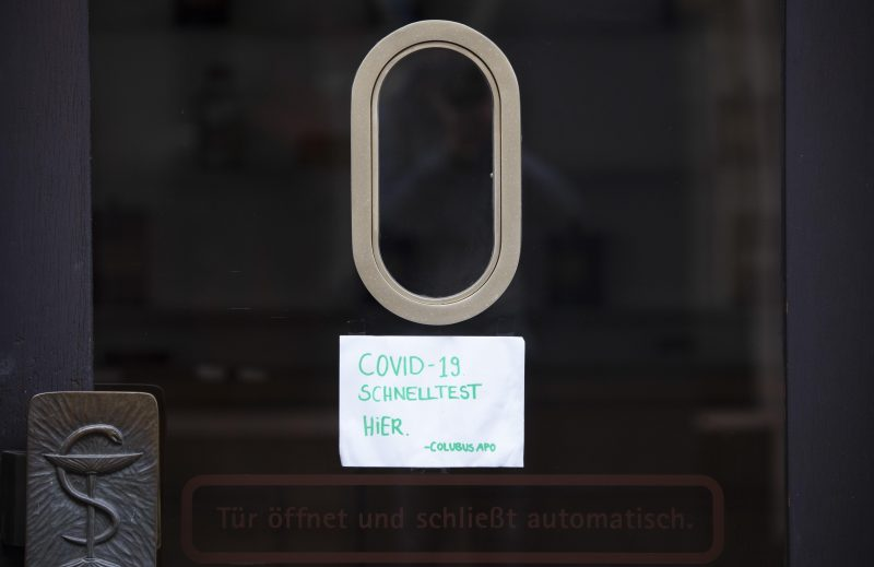 Coronavirus - Kleinstadt-Fußgängerzone