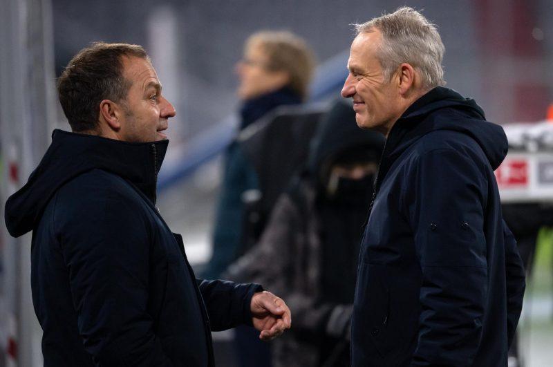 Flick würde Streich den Bundestrainer-Job zutrauen Bayern-Trainer voll des Lobes für Freiburg-Trainer