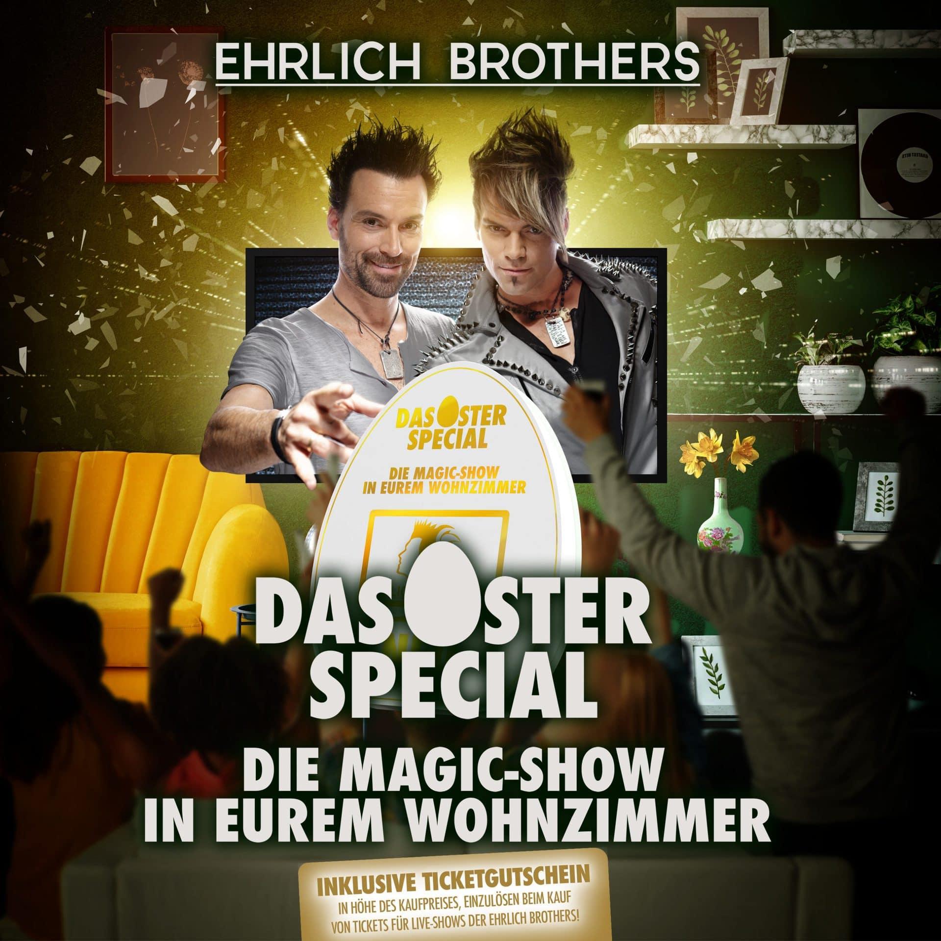 Neue Streamingshow der Ehrlich Brothers Blizz verlost fünf Familienboxen für die Magic-Show im eigenen Wohnzimmer