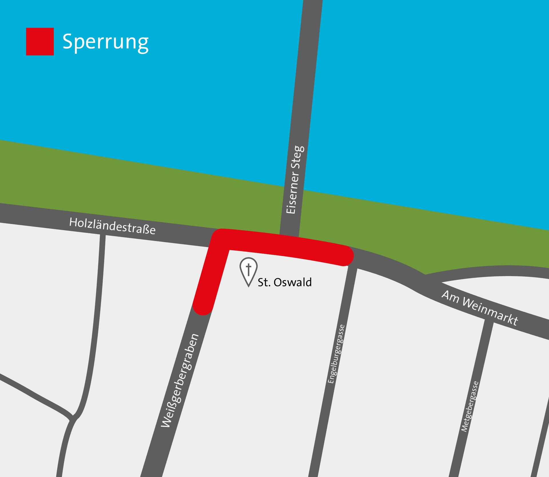 Thundorferstraße entfällt als Ost-West-Verbindung Weißgerbergraben wird in den Osterferien zur Sackgasse
