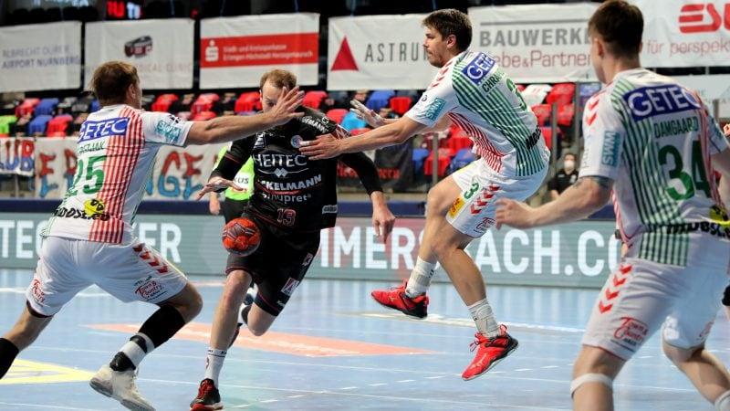 Der HC Erlangen gewinnt gegen den SC Magdeburg mit 30:28