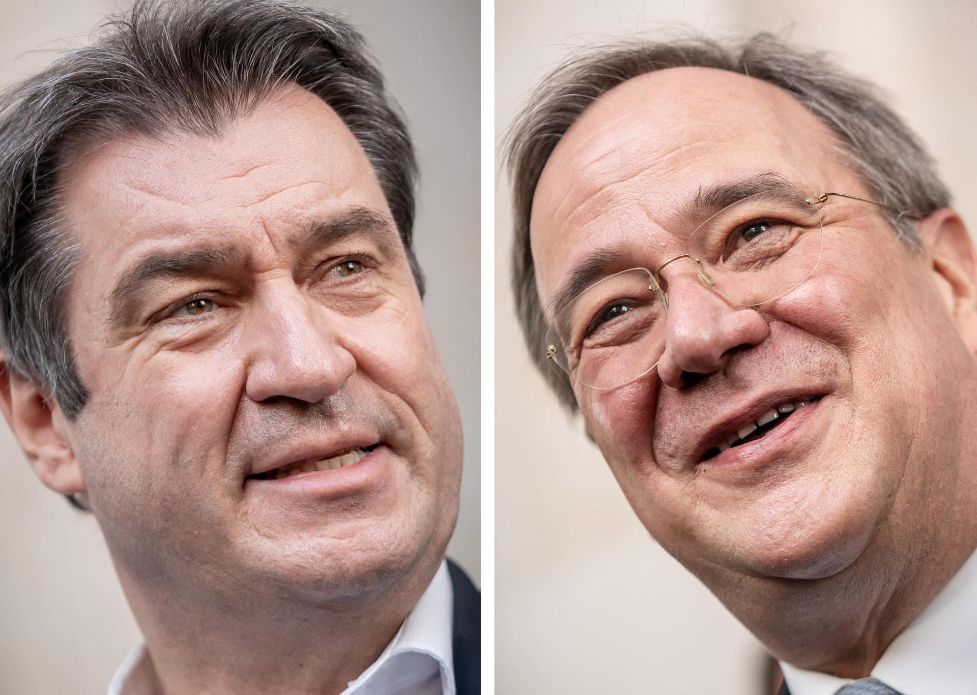 Laschet und Söder wollen K-Frage in dieser Woche klären Entscheidung