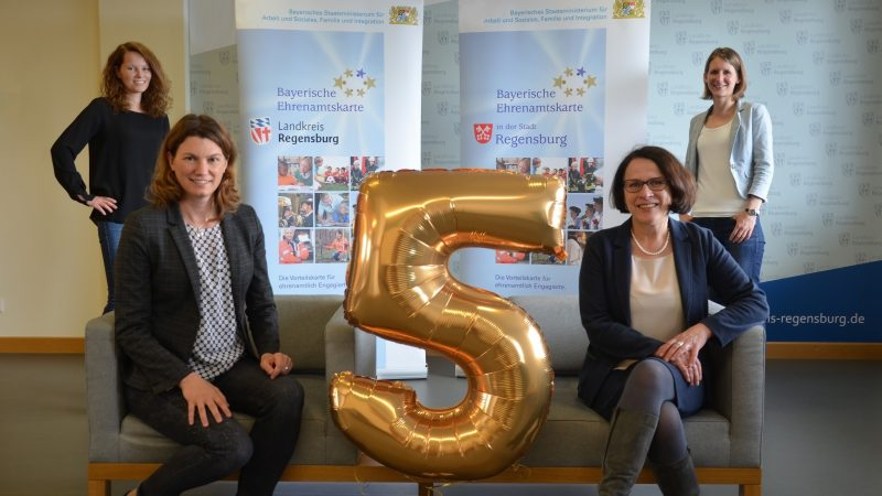 Fünf Jahre Bayerische Ehrenamtskarte in Stadt und im Landkreis