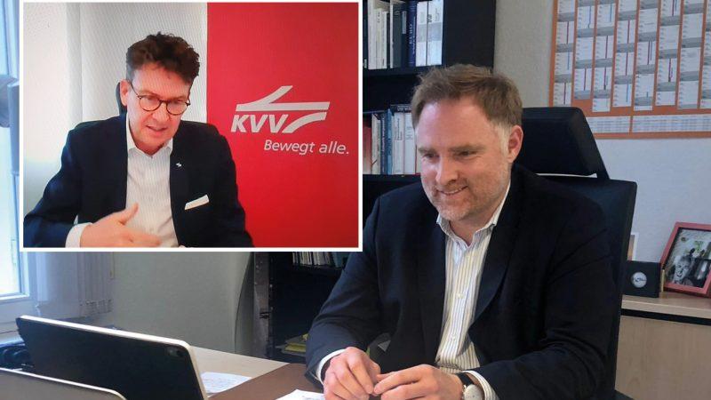 Die Stadtbahn zu den Menschen bringen Peter Aumer veranstaltet DigitalDialog mit Kommunalpolitikern aus der Region und Stadtbahnexperten aus Karlsruhe / Regionalpolitiker fordern mehr Enthusiasmus und Visionen