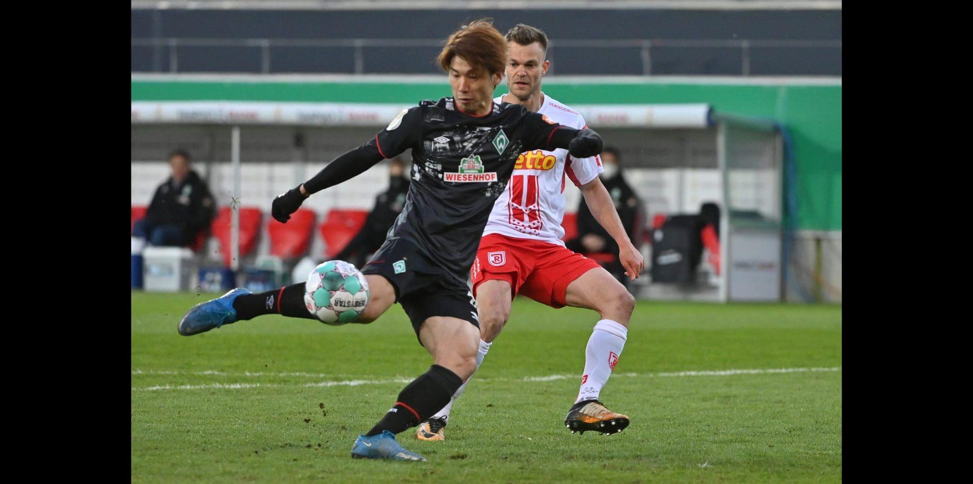 Yuya Osako schießt den SSV Jahn aus dem DFB-Pokal Am Samstag geht's in Kiel weiter