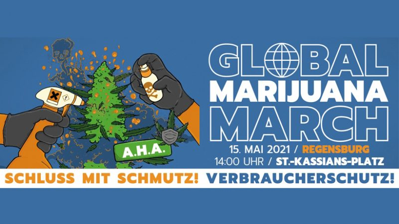 "Deutscher Hanfverband Demonstration ""Global Marijuana March"""