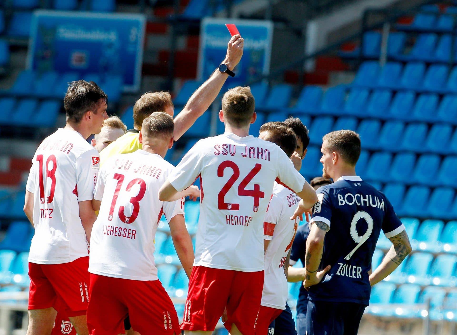 Eigentor und Rot: Regensburg verliert 1:5 2. Bundesliga