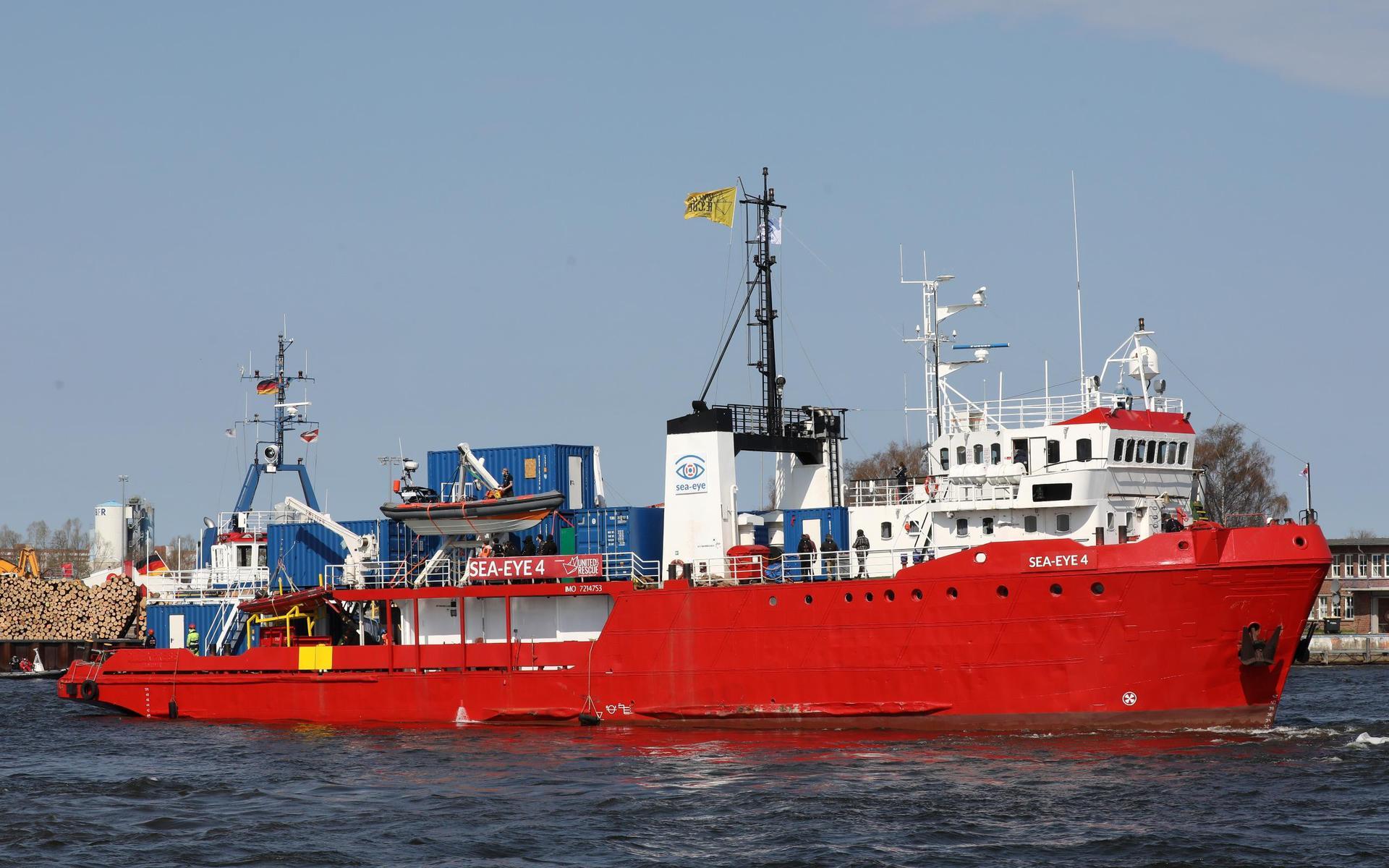 «Sea-Eye 4» hat mehr als 300 Bootsmigranten gerettet Mittelmeer