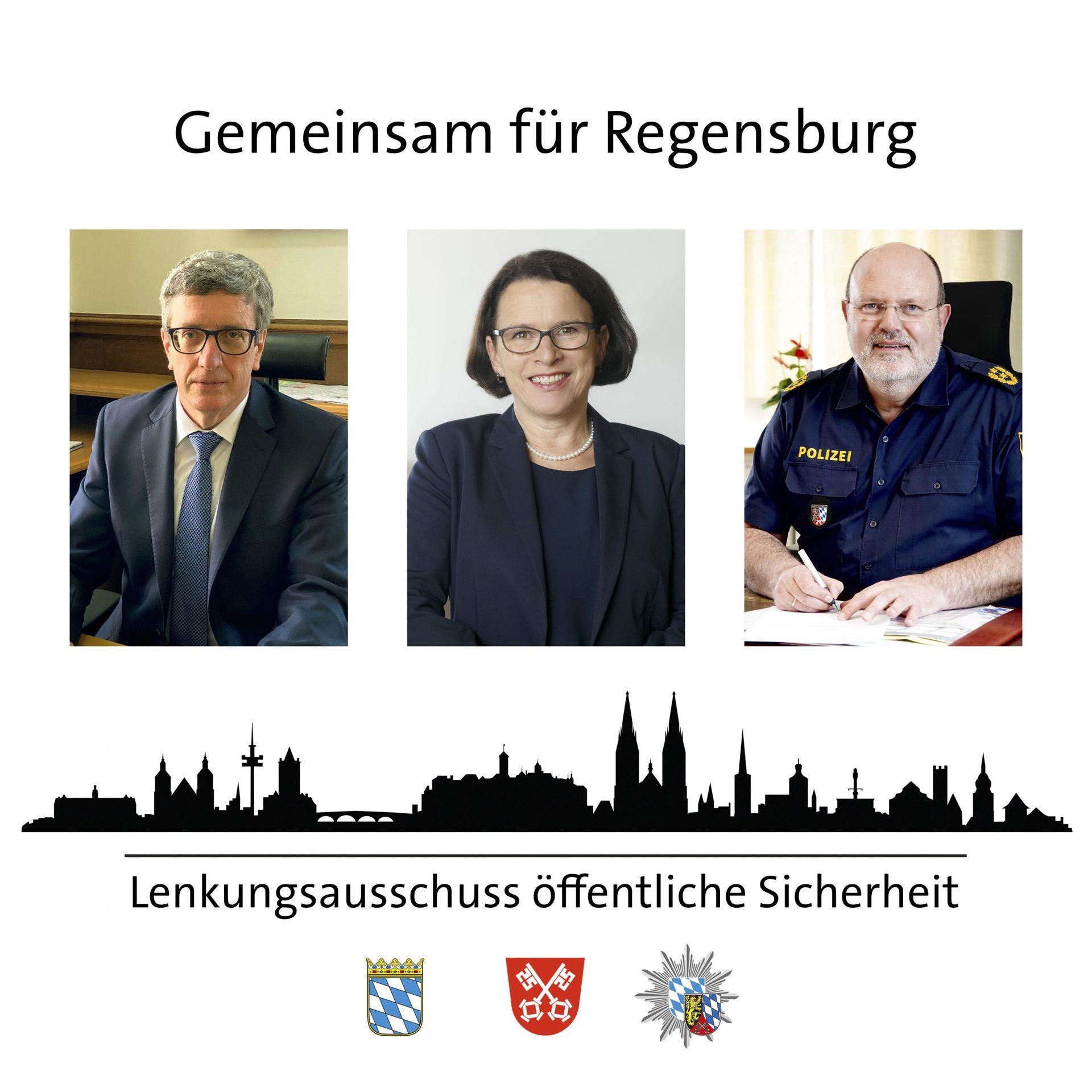 Lenkungsausschuss öffentliche Sicherheit gegründet Stadt Regensburg, Polizeipräsidium Oberpfalz und Staatsanwaltschaft Regensburg als ständige Mitglieder