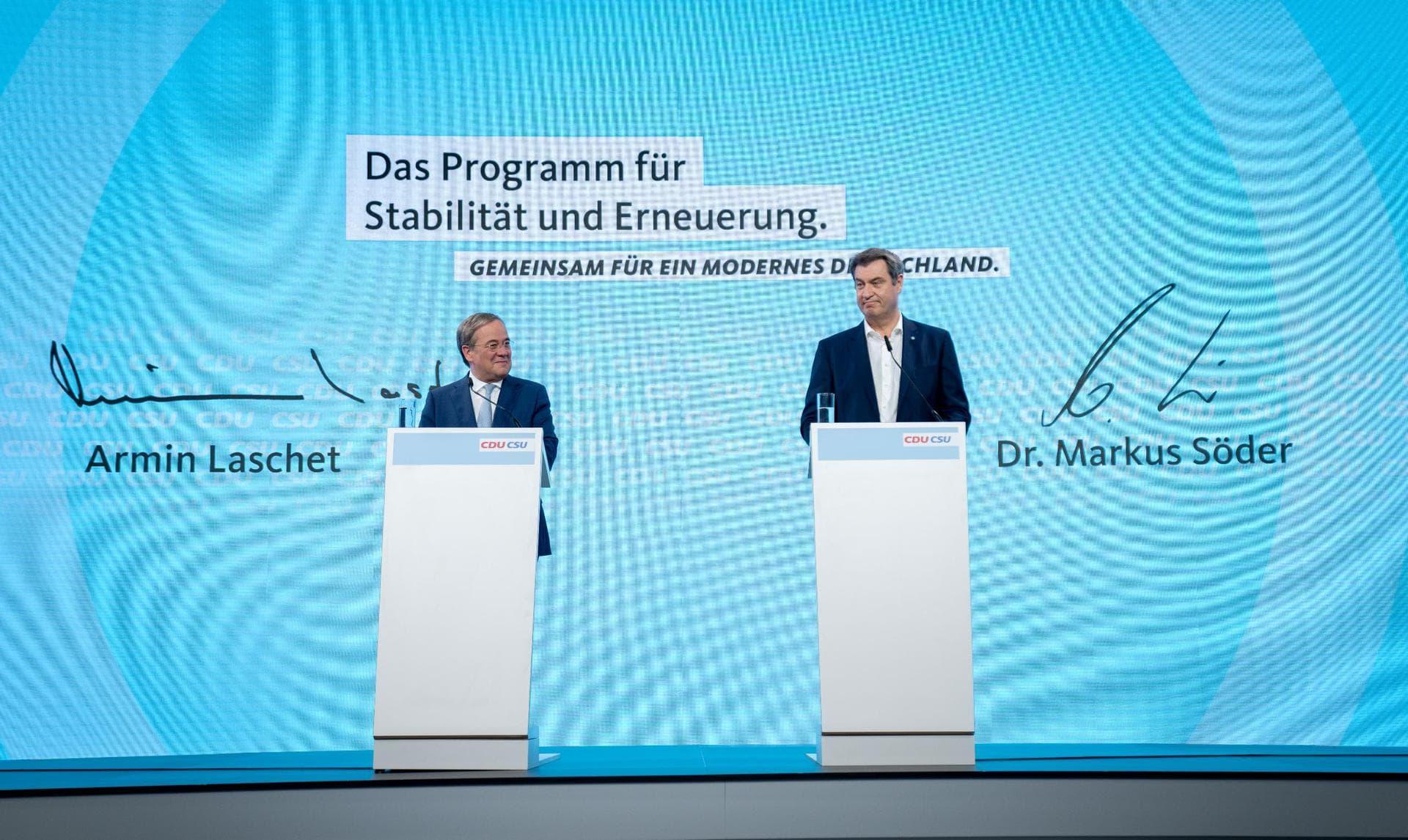 Grüne und SPD: Unions-Wahlprogramm ist unsozial und planlos Bundestagswahl