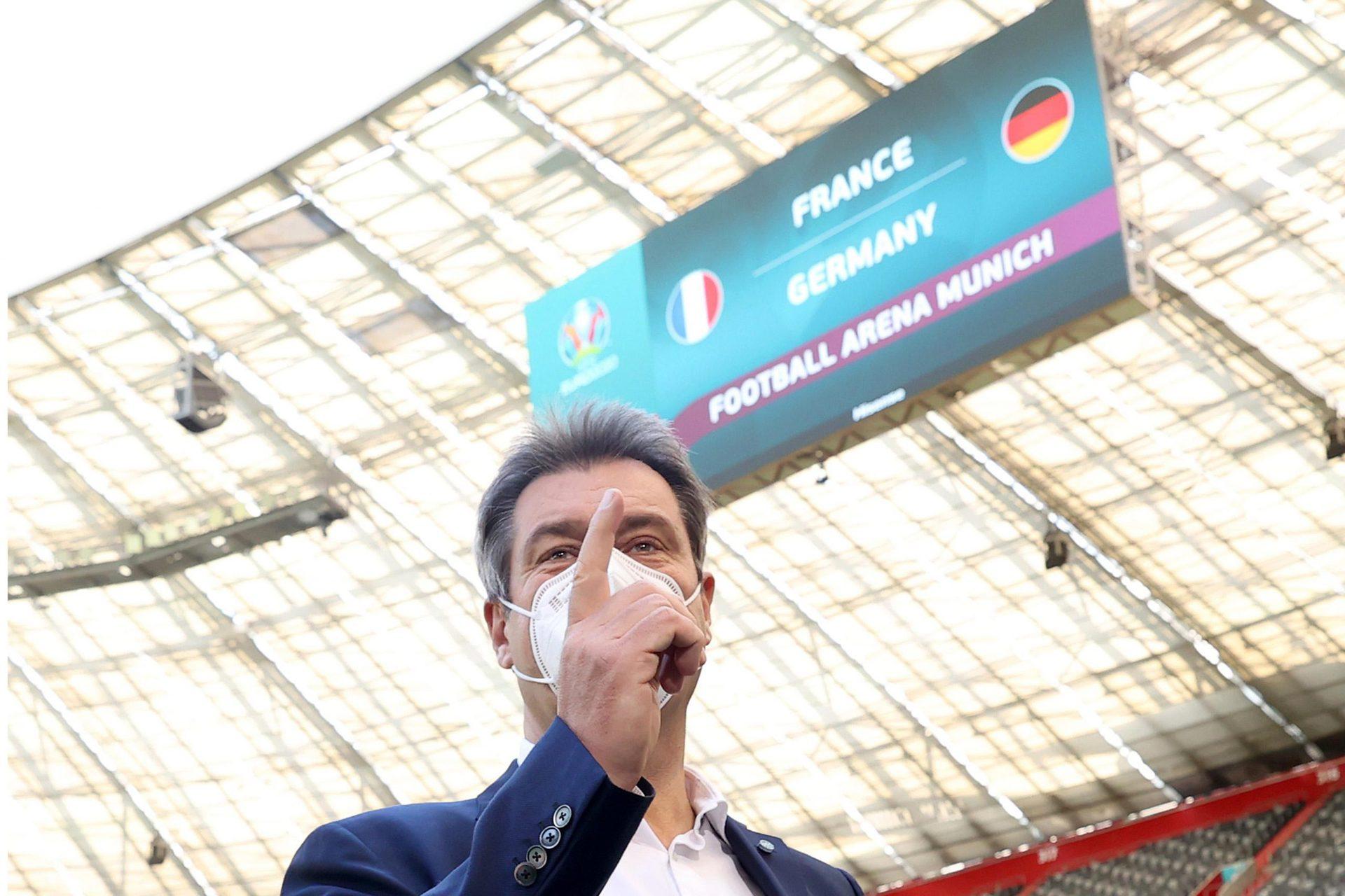 Söder: EM-Spiele in München «mit gutem Gewissen genießen» Voraussetzung aber sei, dass Masken genutzt und Abstand gehalten werde