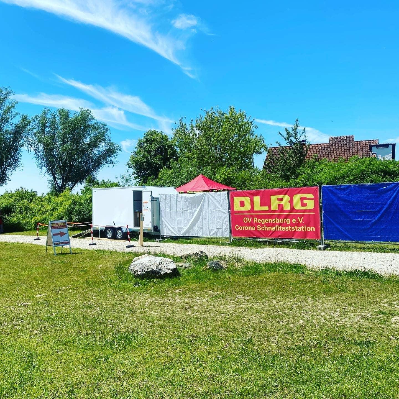 Corona-Schnellteststation am Guggenberger See Mehr Sicherheit auch an Land