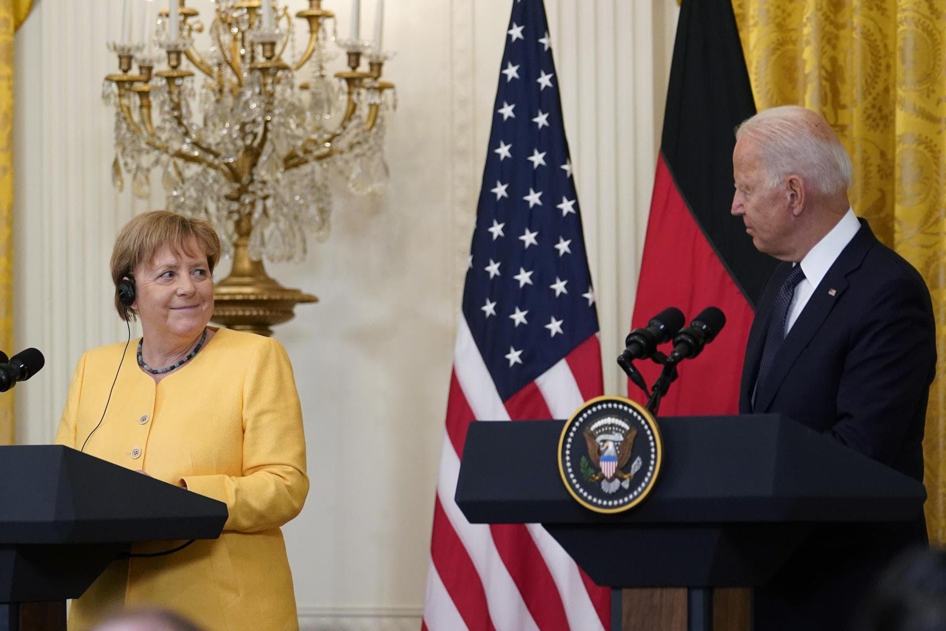Merkel bei Biden – Hochwasser rückt Klima ins Zentrum Besuch in Washington