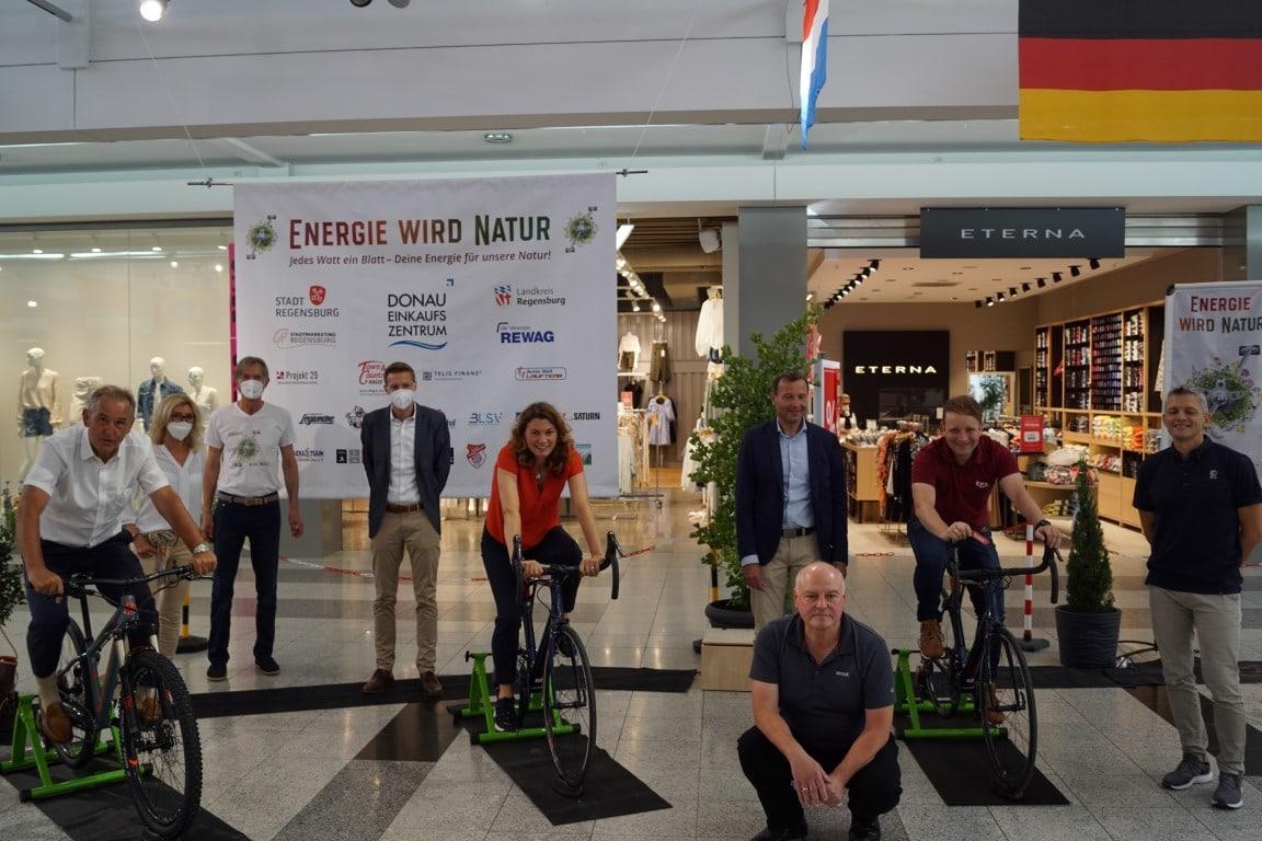 Startschuss für Energie wird Natur Regensburg Auf geht's! Spendenradeln für Naturprojekte aus der Stadt und dem Landkreis Regensburg