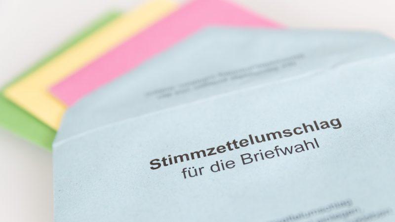 Stimmzettel für die Briefwahl